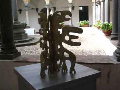 A. Cocchi. Piccolo drago. 2007. Carta vetrificata. h. cm. 70.
